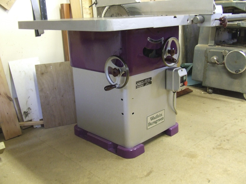 Wadkin Bursgreen 12 AGS table saw completely refurbished
