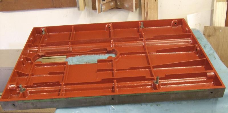Wadkin 12 AGS main table underside