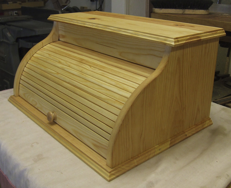 Bread Box with Tambour door