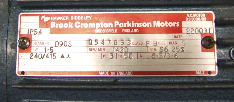 Brook Crompton Parkinson Motor