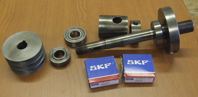 New SFK spindle bearings fitted