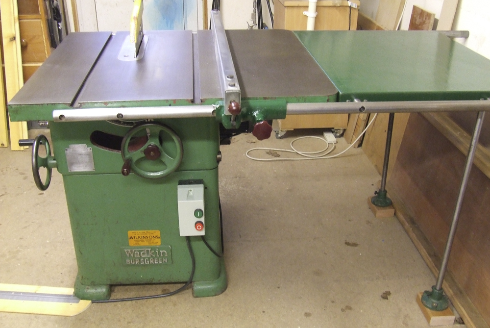 Wadkin Bursgreen 12 Ags 240 Volt Table Saw