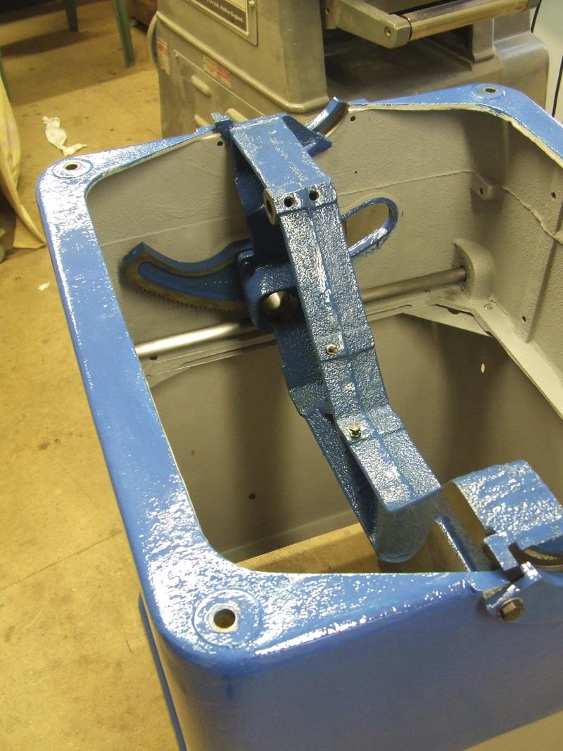 Wadkin Bursgreen 12AGS canting racked quadrant & trunnion bracket