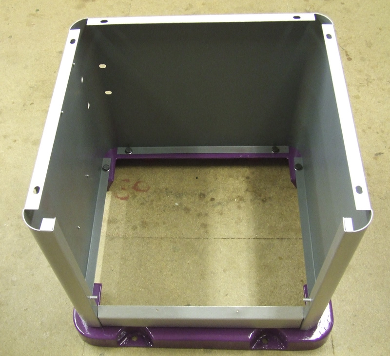 Base bolted to feet